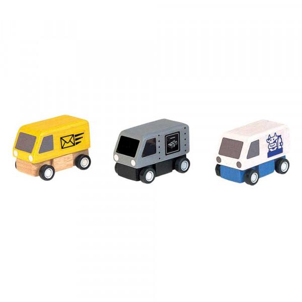 Plan Toys Spielzeug Lieferwagen-Set Holz
