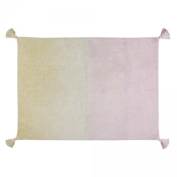 Lorena Canals Teppich Farbverlauf vanille rosa