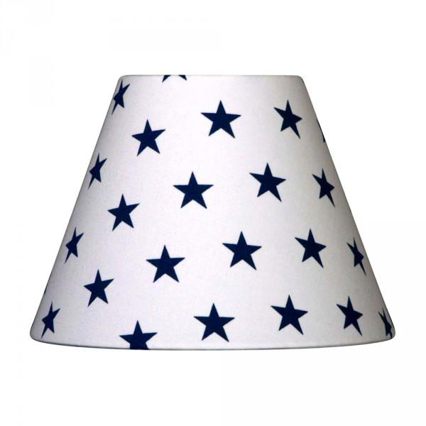 Nordika Lampenschirm weiss Sterne dunkelblau C2