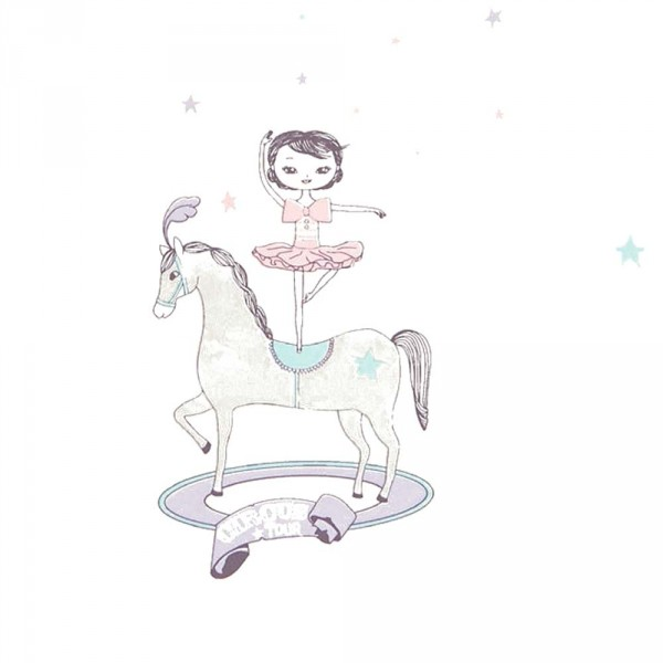 Casadeco Alice & Paul Tapete Zirkus Parade rosa lila grau