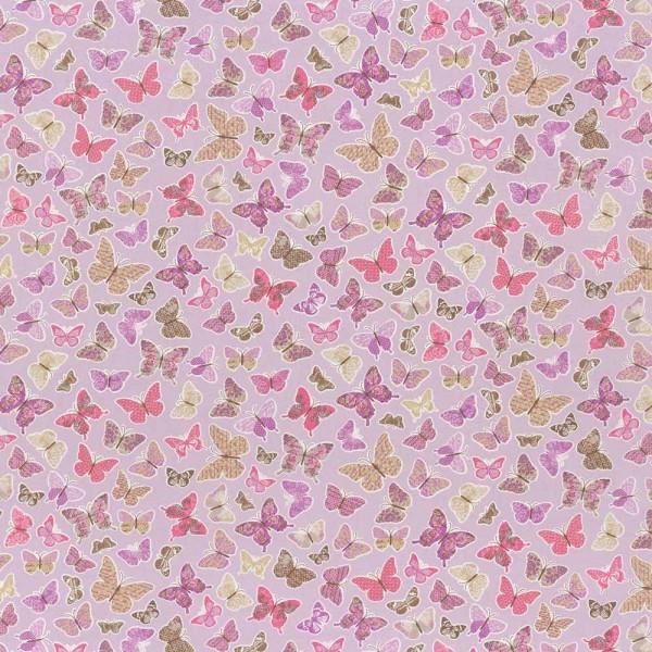 Caselio Pretty Lili Stoff Schmetterlinge flieder pink