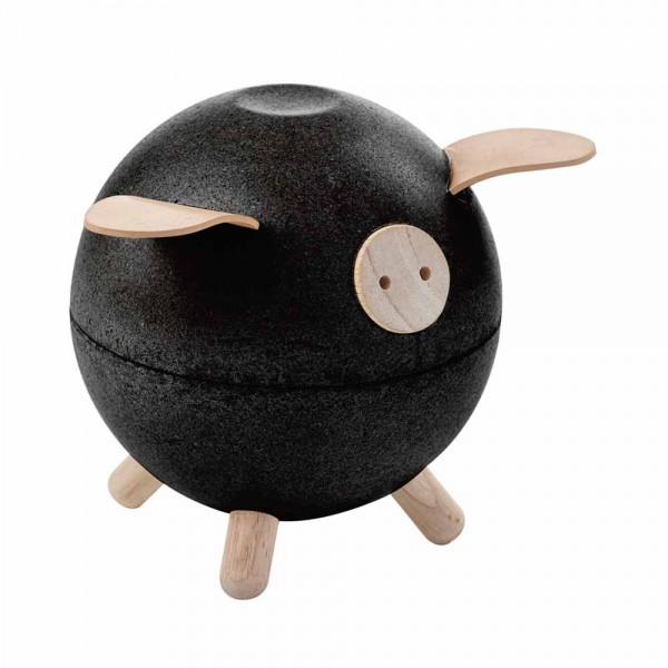 Plan Toys Sparschwein Holz schwarz