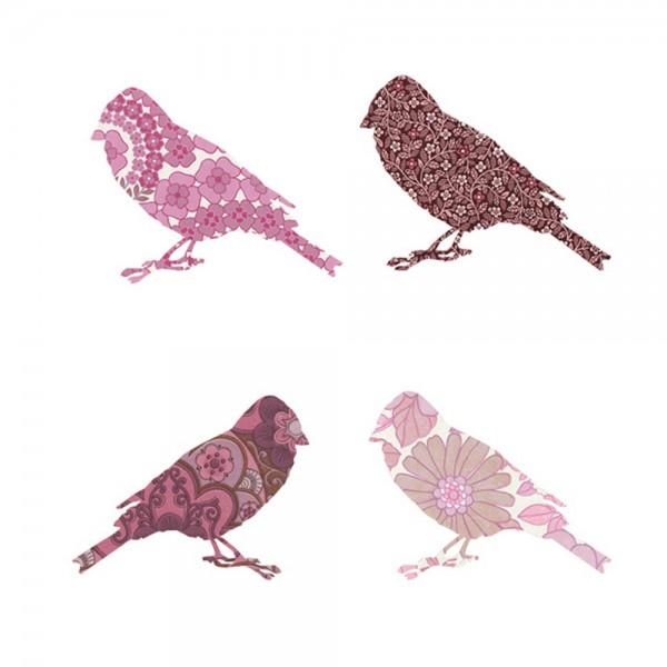 Inke Tapetenvögel rosa