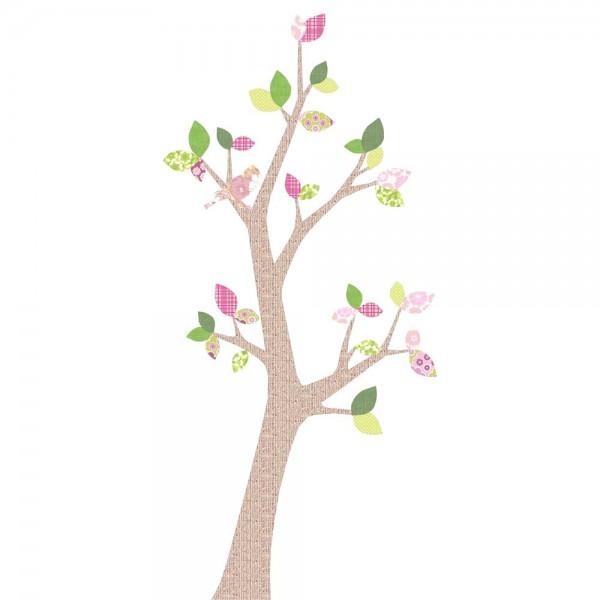 Inke Tapetenbaum 2 Stamm braun Blätter rosa grün