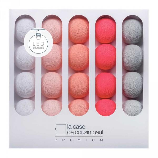 Cousin Paul Lichterkette Nina Premium LED lachs pink grau weiss