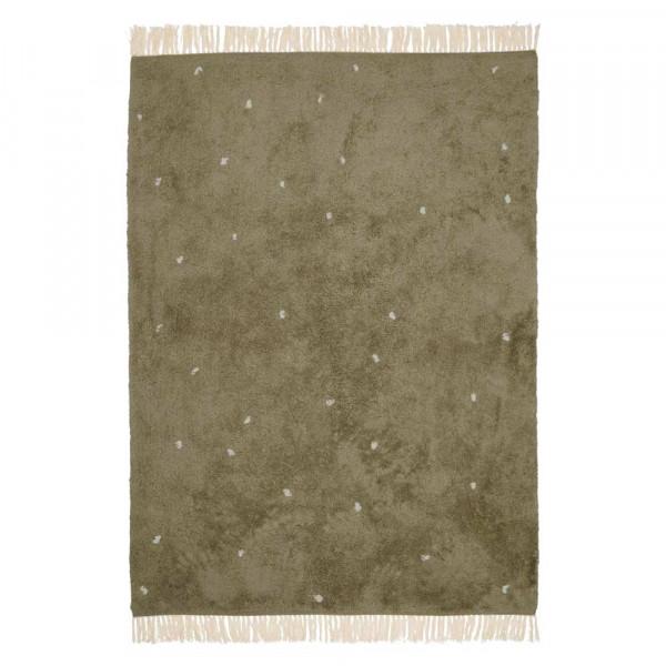 Little Dutch Teppich Punkte oliv 170 x 120