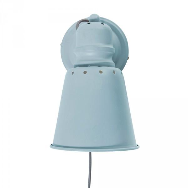 Sebra Wandlampe Leselampe Metall wolkenblau