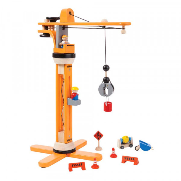 Plan Toys Spielzeug Kran-Set Holz