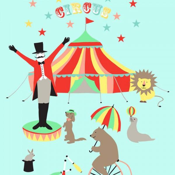 Rasch Textil Everybody Bonjour Wandbild Zirkus