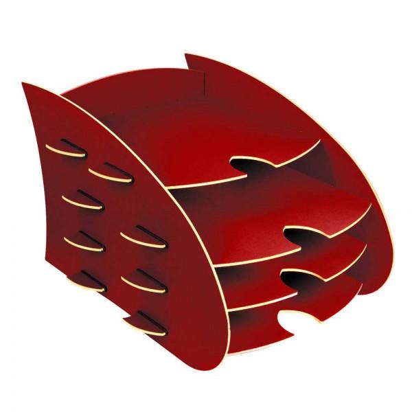Werkhaus Schreibtisch DIN A4 Ablage Box Aero rot