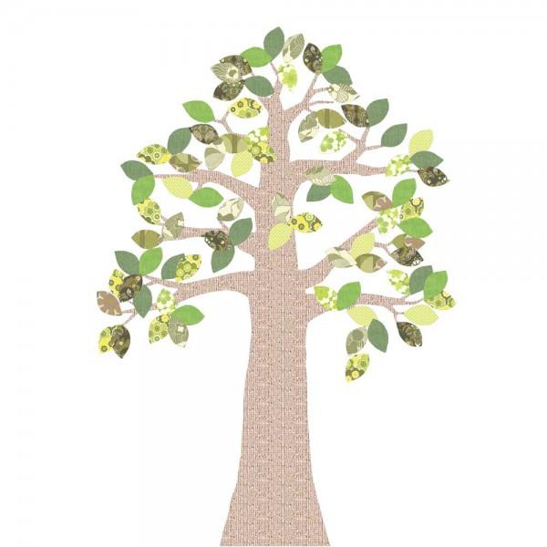 Inke Tapetenbaum Relief grün