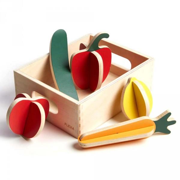 Flexa Kinder Spiellebensmittel Holz Gemüse