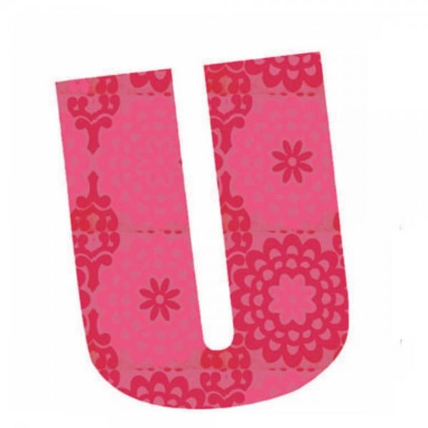 Lilipinso Sticker rosa Buchstabe u