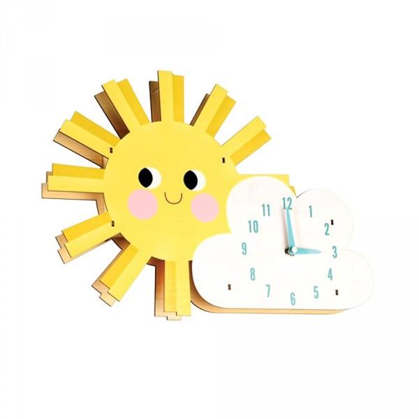 Rex London Kinder Wanduhr Sonne mit Wolke