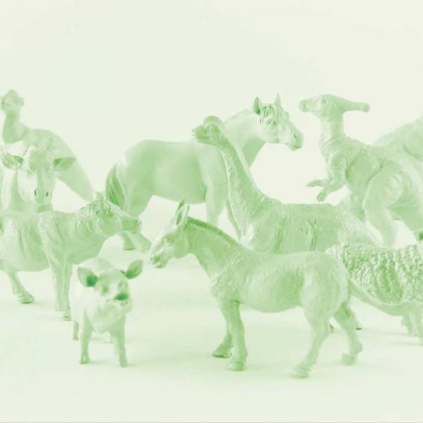 Eijffinger Tout Petit Tapeten Wandbild Tiere vom Bauernhof & Freunde grün