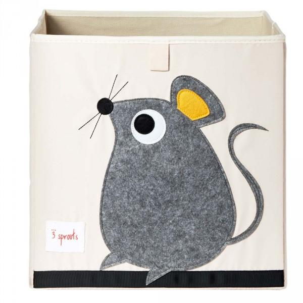 3 Sprouts Spielzeugkorb Maus