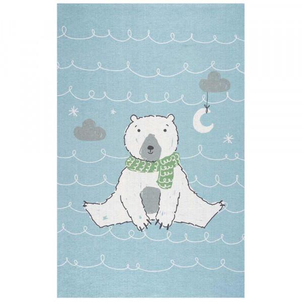 Scandic Living Kinderteppich Eisbär hellblau