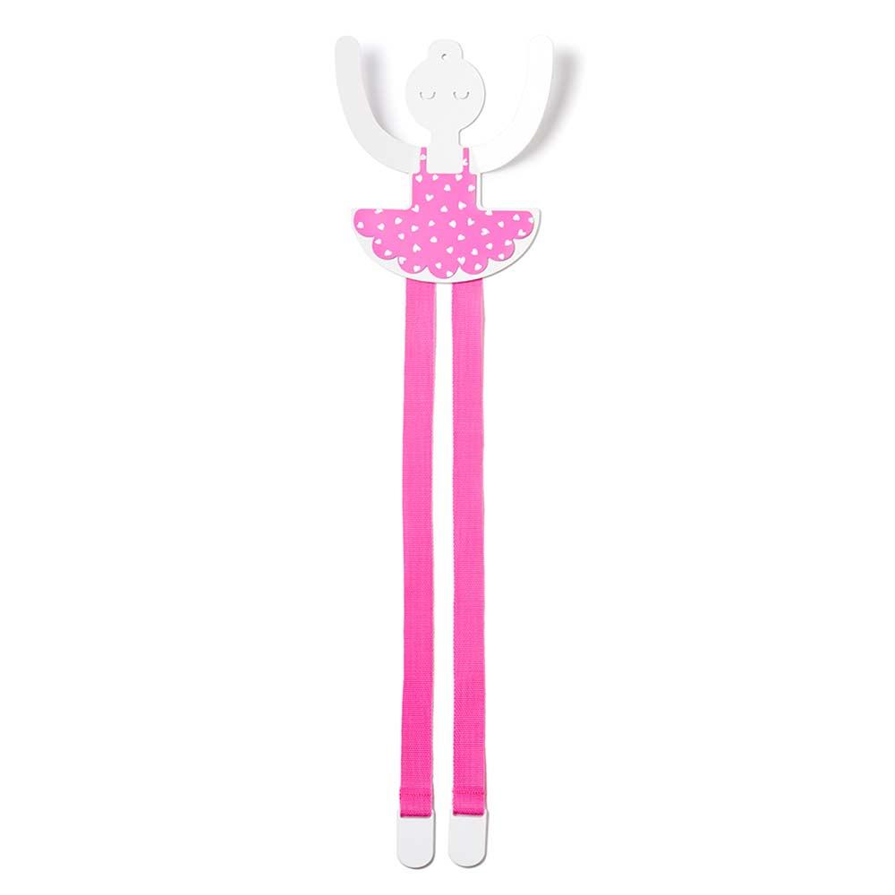 tresxics wandhaken haarspangenhalter ballerina pink bei kinder r ume. Black Bedroom Furniture Sets. Home Design Ideas