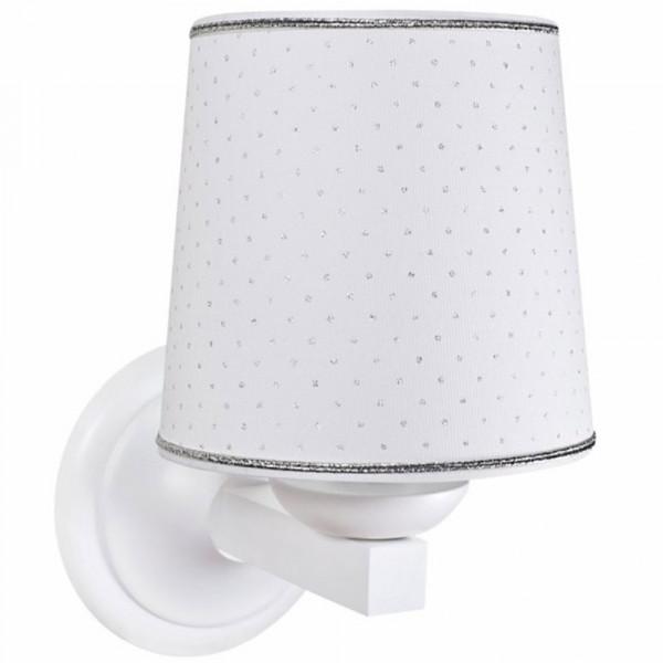 Caramella Wandlampe Silberpunkte weiss