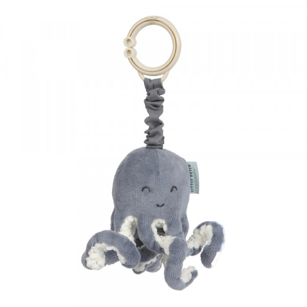 Little Dutch Kinderwagen Spielzeug Oktopus Ocean blau