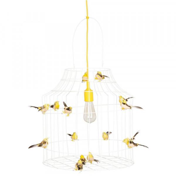Dutch Dilight Pendellampe gelb Vögelchen gelb