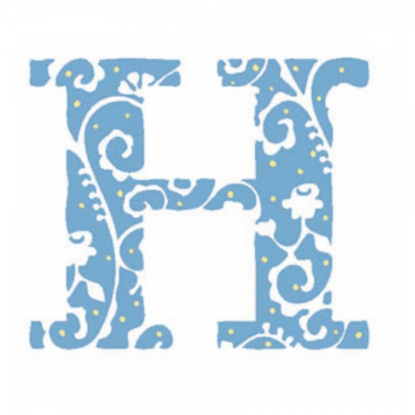 Lilipinso Sticker blau Buchstabe h