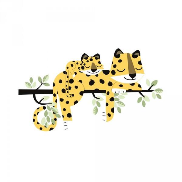 Lilipinso Wandsticker XL Familie Gepard auf Ast