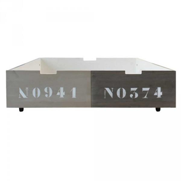 Bopita Basic Wood Bettschublade 100 cm zweifarbig grau