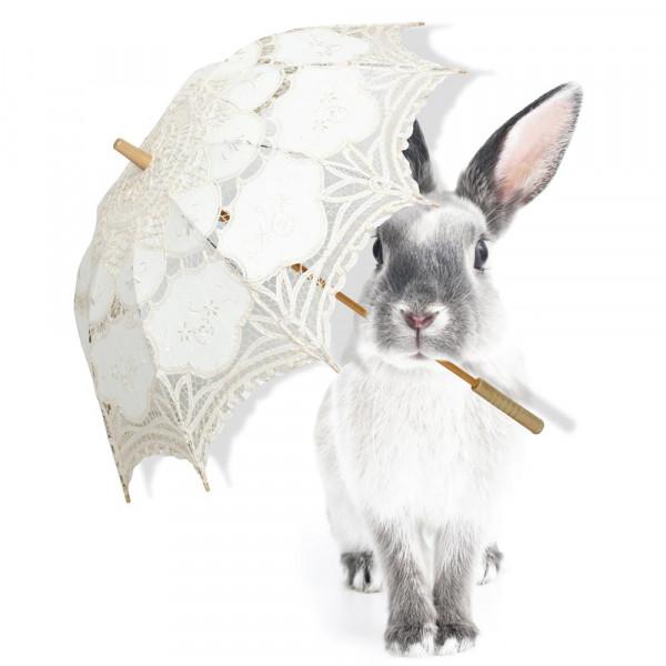 Dekornik Wandsticker Hase mit Schirm
