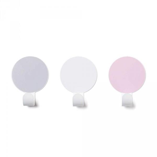 tresxics Garderobenhaken Punkte grau pink