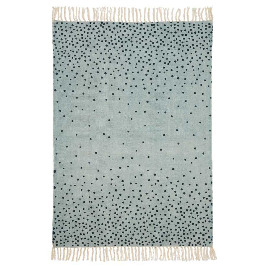done by deer teppich mit fransen blau bei kinder r ume. Black Bedroom Furniture Sets. Home Design Ideas