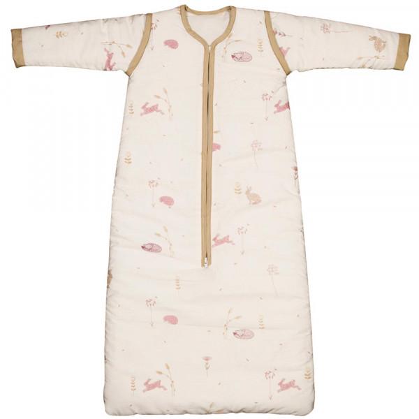 "Taftan Baby Schlafsack Winter ""Hello World"" rosa beige"
