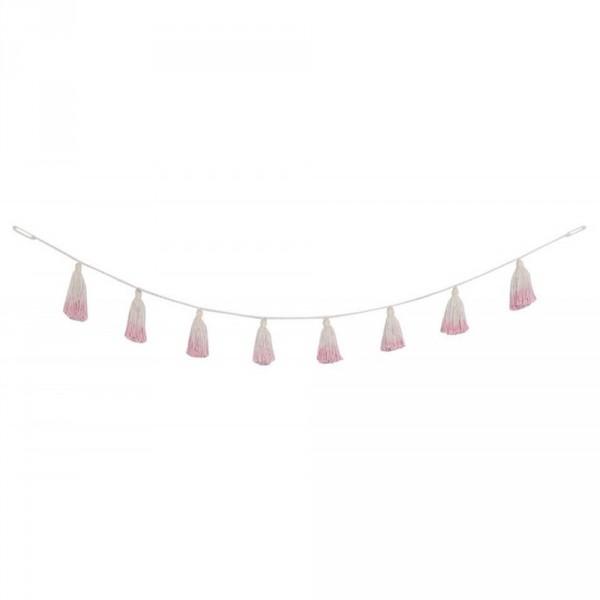 Lorena Canals Pom Pom Girlande Tie Dye rosa