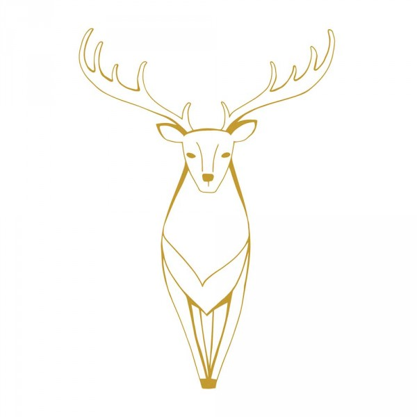 Lilipinso Wandsticker XL Hirsch gold