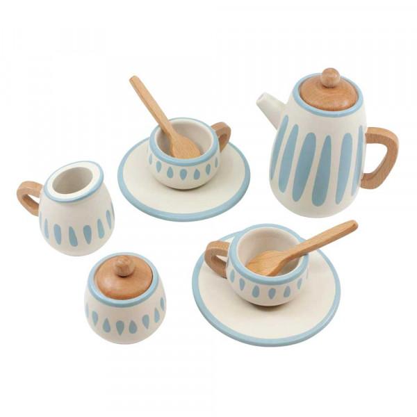 Sebra Tee-Set Holz hellblau