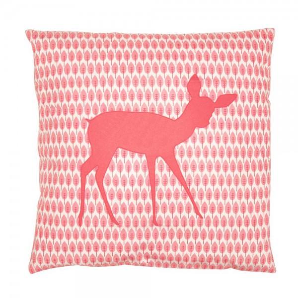 Taftan Kissen rosa Reh & Hase 50 x 50