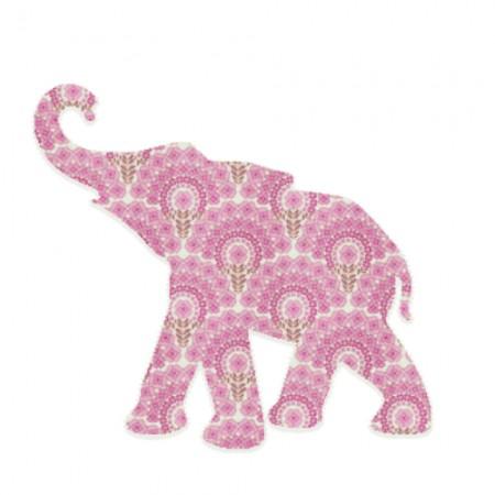 Inke Babyelefant rosa Muster