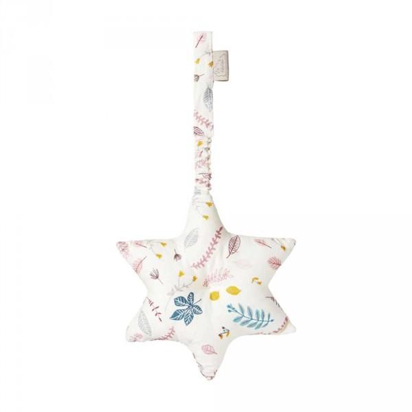 Cam Cam Baby Spielzeug Stern Blätter rosa