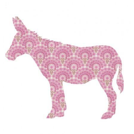 Inke Tapetentier Esel rosa