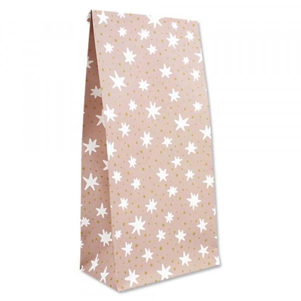 Ava & Yves Geschenk Papiertüten Sterne rosa