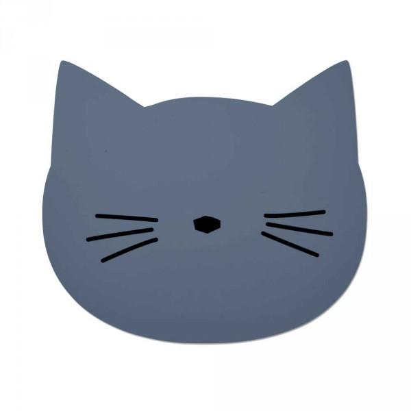 """Liewood """"Aura"""" Tischset Katze blau"""