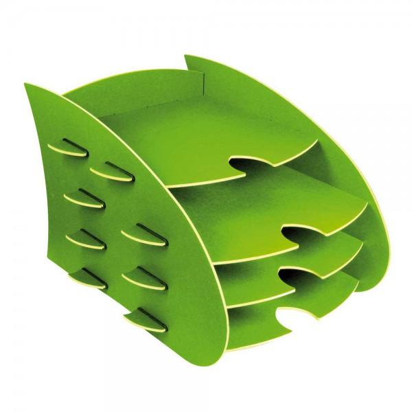 Werkhaus Schreibtisch DIN A4 Ablage Box Aero grün