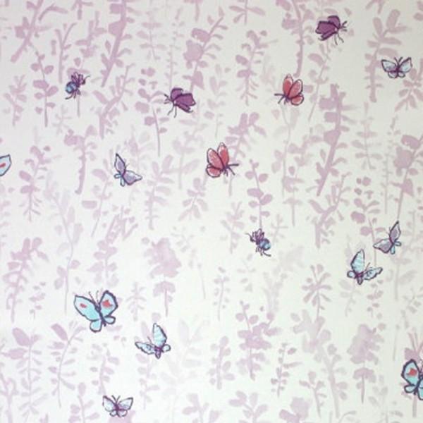 Osborne & Little Tapete Schmetterlinge flieder
