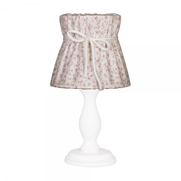 Nordika Lampenschirm genäht Blumen rosa braun r1