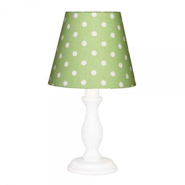 Nordika Lampenschirm grün Punkte weiß w1