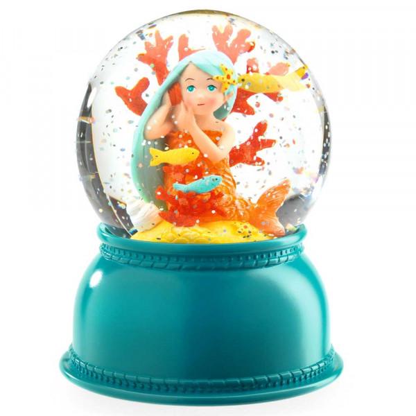 Djeco Nachtlicht Schneekugel Kleine Meerjungfrau