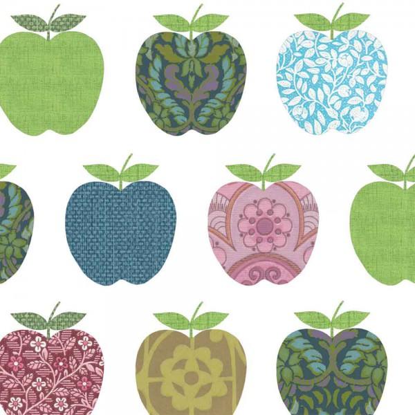 Inke Tapeten Wandbild Retro Äpfel farbig