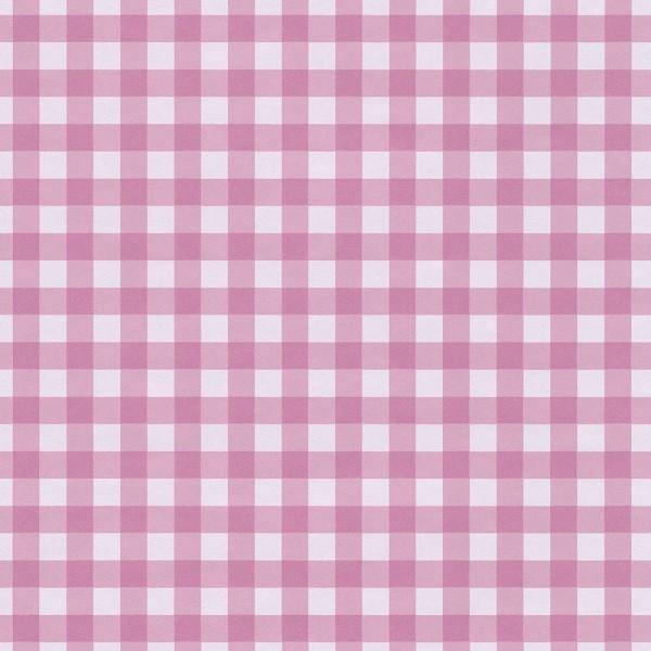 Rice Tapete Vichykaro groß pink