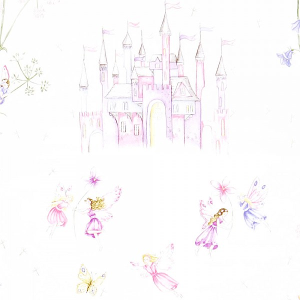 Little Sanderson Abracazoo Tapete Märchenschloss creme lila pink
