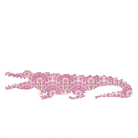 Inke Tapetentier Krokodil rosa